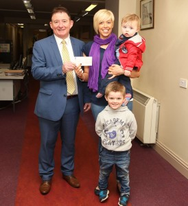 Deirder Woods from Grangebellew with her boys Max and Alex.