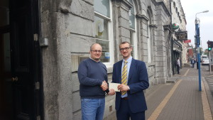 Spring 2017 Newsletter competition winner Peter Sage with Paddy Keenan 15 May 17